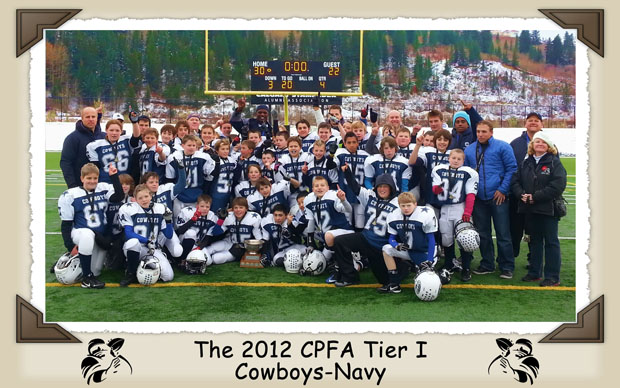 The 2012 CPFA Tier 1 Cowboys-Navy