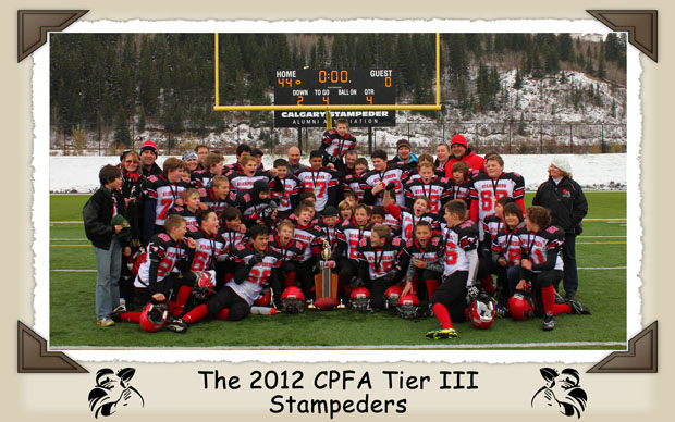 The 2012 CPFA Tier 3 Stampeders